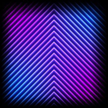 X-Frame Motivhintergrund Neon Night